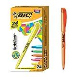 BIC Brite Liner Highlighter, Chisel Tip, Assorted Colors, 24-Count, Chisel Tip for Broad Highlighting or Fine Underlining