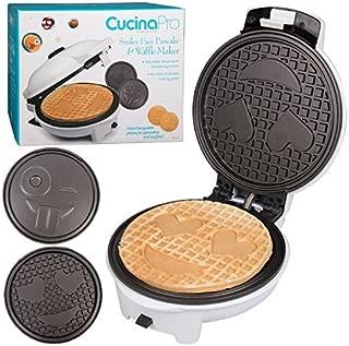 Emoji Waffler & Pancake Maker w Two Interchangeable Plates - Dual Designs - 8