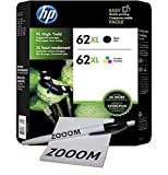 62XL Black and Tri-Color Ink Cartridges with Zooom Pen and Sticky notes