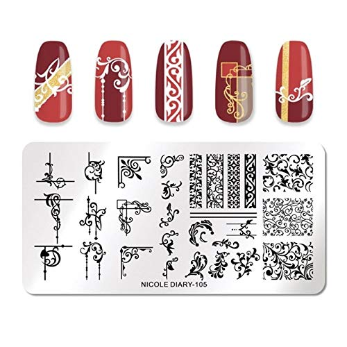 Fayella Nail Stamping Plate Animal Flower Palm Tree Stamp Image Templates Printer Nail Art Stencil Plate Nails Tool,46773