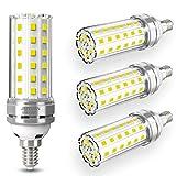 4 pezzi 12W E14 Lampadine LED di mais, E14 candelabro a LED da...