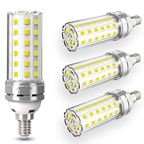 4 pezzi 12W E14 Lampadine LED di mais, E14 candelabro a LED da Equivalenti a 100W, 1450 Lumens Alta Luminosità e Risparmio Energetico Non Dimmerabile Lampadina LED E14 Luce Bianco Freddo 6000K