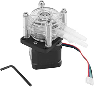 6-30V Large Flow Stepper Motor Peristaltic Pump Tube Vacuum for Aquarium Lab Analytical Water 6.4mm×9.6mm 0-400ml/ min Flow