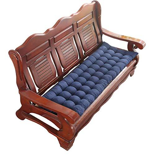 Long Bench Cushion with Fixing Ties,48x120cm Garden Bench Cushion,2-3 Seater Bench Mat Pad,Replacement Mattress Indoor Outdoor,8 cm Thick-zangqing-55x150cm