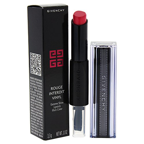 Givenchy Rouge Interdit Vinyl Lippenstift, 06 Rose Sulfureux, 3er Pack (3 x 3 g)