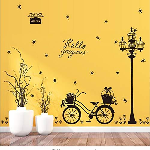 Kreative Entfernbare Wandaufkleber Straßenlaterne Float Silhouette Schlafzimmer Kühlschrank Wandaufkleber Dekor Kabinette Dekorative