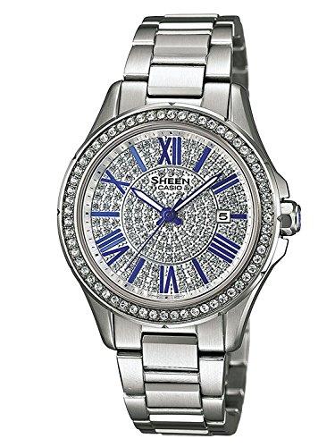 Casio SHE-4510D-7AUER - Orologio da polso Donna, Acciaio inox, colore:...