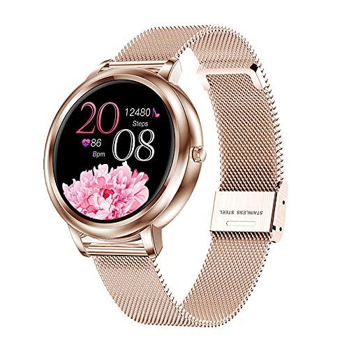LKXL Podómetros Reloj de Pulsera Elegante Femenino con Esfera Personalizada de Oro Fino