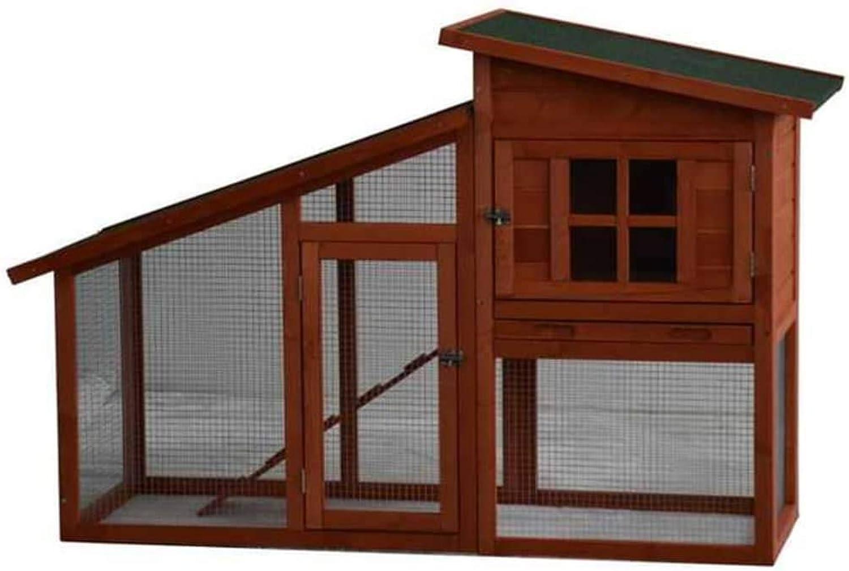 @Pet Rabbit Hutch Serfaus Wood 151x60x100cm Brown Rodent House Habitat Cage