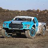 Nsddm 1/10 Scale RC Car 21.6En Vehículo De Juguete De Gran Tamaño 80km/H Camión RC De Alta Velocidad 4WD All Terrain Off-Road Camión Corto A Hobby Adult RC Juguete RTR (Color : Azul)