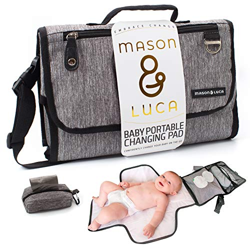 Mason & Luca | Portable Changing Pad for Baby Changing Station | Easy Diaper Changing for Travel | Baby Shower