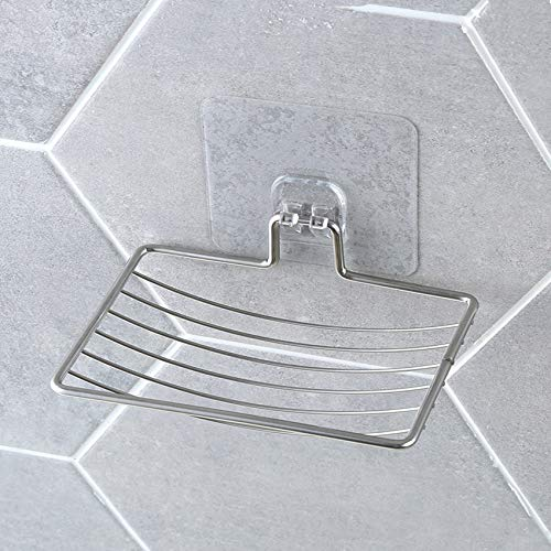 More and more Zeepbakjes Silver Badkamer Vacuum Plak Soap Holder Cup Box afwasmiddel opslag Saver douchebak badkamer accessoires