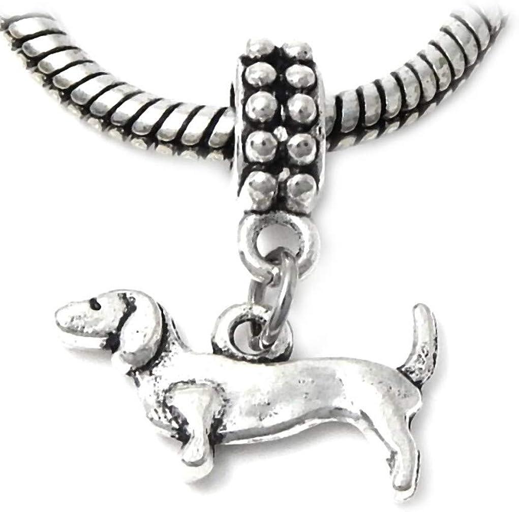 J&M Dangle Dachshund Dog Charm for Bracelets