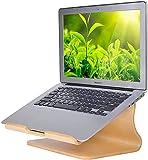 SAMDI Soporte universal de madera para portátil MacBook Air / Pro Retina iPad Pro Tablet PC Notebook PC Notebook (A-Black Walnut) (A-blanco)