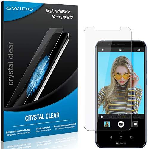 SWIDO Schutzfolie für Huawei Y6 Prime (2018) [2 Stück] Kristall-Klar, Hoher Festigkeitgrad, Schutz vor Öl, Staub & Kratzer/Glasfolie, Bildschirmschutz, Bildschirmschutzfolie, Panzerglas-Folie