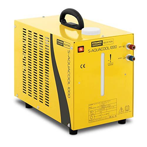 Stamos Germany - S-AQUACOOL 1000 - Wasserkühler für Schweißgeräte/Plasmaschneider (9 L, 1.600 W, 230 V, 3 bar, 13 kg, Edelstahl) gelb