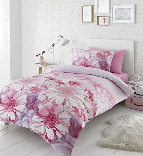 Catherine Lansfield Daisy Dreams Easy Care Single Duvet Set Pink