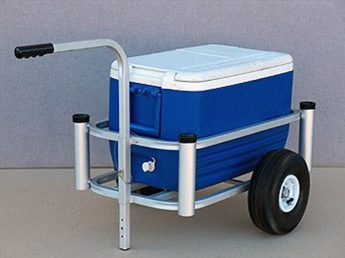 Anglers Pier Cart Anglers Pier Cart Lil Mate Small Pier Cart Gold Anodize Alum #600