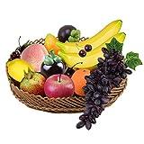Frutas Artificiales Decoracion, Conjunto Frutta Finta decorativa en Realistico per la Decorazione 10 pezzi