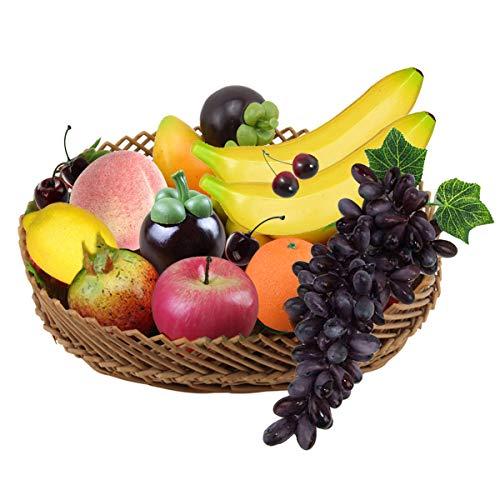10pcs Deko Obst Plastik Satz, Realistische Künstliche Früchte Gefälschte Frucht für Dekoration