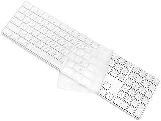 ProElife Ultra Thin Silicone Full Size Keyboard Cover Skin for 2017 2018 Apple iMac Magic Keyboard with Numeric Keypad MQ0...