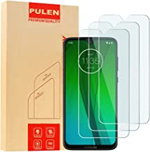 [3-Pack] PULEN for Motorola Moto G7 Screen Protector,Moto G7 Plus Screen Protector,HD Anti-Fingerprints Scratch Resistance Bubble Free 9H Hardness Tempered Glass for Moto G7/Moto G7 Plus,6.2'' 2019