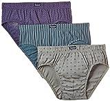 Abanderado Slip Cerrado De Algodón 100% Estampado - Pack x3, color lila lluvia + verde rayas + gris treboles, talla 60/XXL