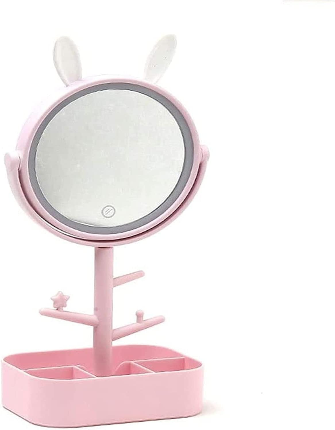 Baltimore Mall ZHJ Classic Illuminated Makeup Mirror Dressin Tabletop Rechargeable USB