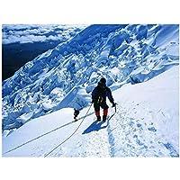 登山登山ウォールアートキャンバス絵画写真ポスターとプリントユニークなアートワーク廊下の装飾-24x32インチフレームなし