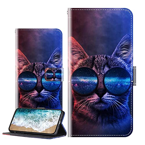 Cherfucome Handytasche für Sony Xperia XZ Premium Hülle Leder Tasche Brieftasche Flip Hülle Cover Sony Xperia XZ Premium Handyhülle Ledertasche Lederhülle Schutzhülle [C05*Tiger]