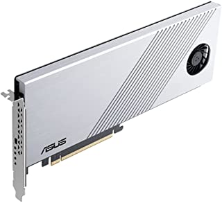 ASUS Hyper M.2 x16 Gen 4 (PCIe 4.0/3.0) Supports 4X M.2 NVMe Devices (2242/2260/2280/22110) up to 256 Gbps for AMD TRX40 /...