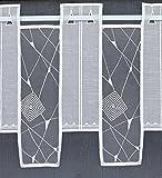 heimtexland ® Scheibengardine nach Maß weiß - Höhe 30cm - Breite auf Wunschmaß in 32cm Schritten Typ445