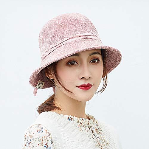 geiqianjiumai Women's tij herfst en winter casual mode wilde pluizige warme wastafel cap art retro visser hoed