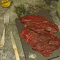 Nos bouchers sélectionnent soigneusement de la viande en France et dans le monde pour vous garantir des morceaux d'exception. C'est l'un des morceaux les plus appréciés, la bavette d'aloyau est une viande aux fibres longues et peu serrées. Elle est g...