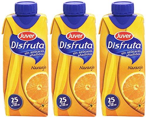 Juver - Disfruta - Bebida refrescante de zumo de naranja - 3 x 330 ml