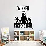 Ganador del juego calcomanías de pared pollo cena juego pegatinas para niños dormitorio sala de juegos vinilo pared arte calcomanías decoración de la casa