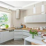 Hode Selbstklebende Folie Dekorfolie Klebefolie für Möbel Küche Oberflächenschutz Wasserdicht Vinyl Hochglanz Mit Glitzerpartikel Effekt Weiß 40cmX300cm - 7