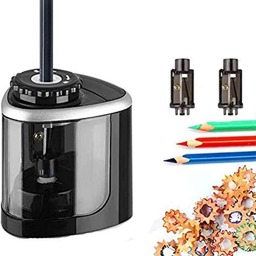 Phayee Sacapuntas eléctrico, sacapuntas eléctrico automático, Funciona con Pilas, para el Aula Escolar de los niños, para Todos los lápices y crayones