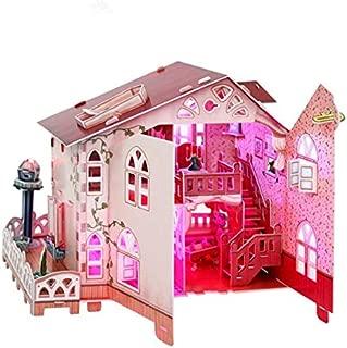 Girl DIY Hut Handmade Puzzle Model Holiday Villa