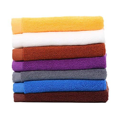 ADX cada paquete de 6 toallas de cocina y para el hogar, toallas cuadradas pequeñas y trapos de color liso son fáciles de limpiar y tienen una fuerte absorción de agua y detergencia