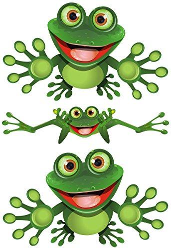 Funny Frog - Lustiger Frosch - Autoaufkleber - Funny Frog Set 01
