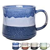 Bosmarlin Large Ceramic Coffee Mug, Big Tea Cup for Office and Home, 21 Oz, Dishwasher and Microwave Safe, 1 PCS (Blue)