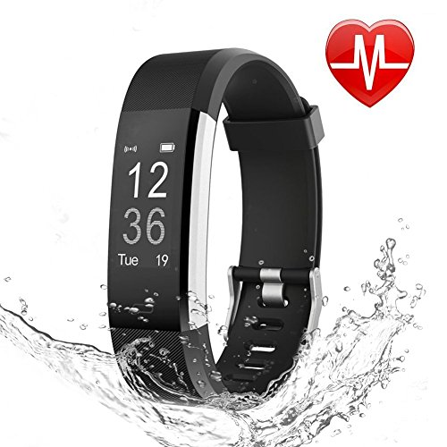 LETSCOM Fitness Tracker HR, Activity Tracker Watch with Heart Rate Monitor, IP67 Smart Fitness Band with Step Counter, Calorie Counter, Pedometer Watch for Kids Women and Men