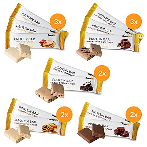 Supplify Proteinriegel (Mix Box) - Low Carb Protein Riegel ohne Zucker-Zusatz - glutenfreier Protein Bar mit bestem Whey Eiweiß (12x60g)