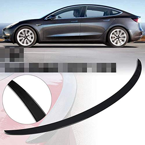 YUMTOL Suitcase Spoiler 1Pcs Glossy Black Suitcase Spoiler Cover Trim Fitted Fit For Tesla Model 3 2017~2019 Lip Spoiler Strips