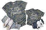 Auntie Shirt For Women, Auntie Squad Shirt, Aunt and Niece T-Shirt, Gift for Aunt, Gift for Sister, I love my Aunt T-Shirt for Kids, Auntie and Nephew Shirts, Best Aunt Ever Shirt