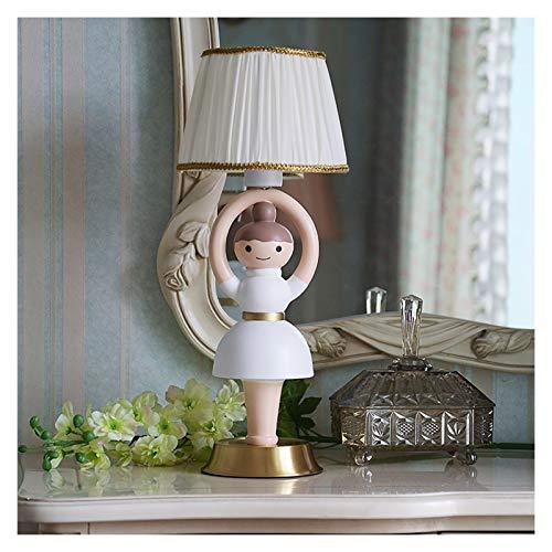 Lámpara de Cabecera Lámpara de mesa de giro del bailarín de ballet lámpara linda de los niños con la cortina blanca tela usada for decorar la sala de estar, habitación de los niños, el dormitorio o To