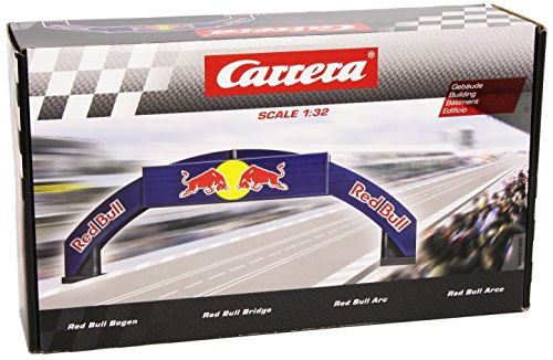 Carrera 21125 Deco Bridge Red Bull Realistic Scenery Accessory for Slot Car Race Track Sets, Blue