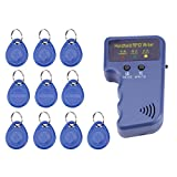 Escritor/Copiadora/Lector/Duplicador RFID, Dispositivo Portátil de Mano de 125 KHz con Etiquetas de Identificación de 10 Unidades en Azul