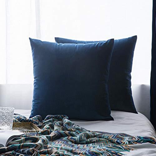 Miwaimao 26Colors almohada buque terciopelo funda de asiento de la sala de estar sofá almohadilla conjunto de color sólido funda de almohada almohada de coche de 500 mm*500 mm, 16